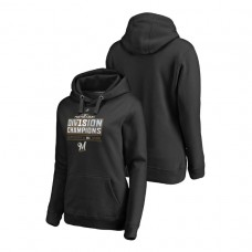 Women - Milwaukee Brewers Runner Black 2018 NL Central Division Champions Majestic Hoodie