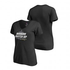Women - Milwaukee Brewers vs. Colorado Rockies Black 2018 NL Division Series Matchup Double V-Neck T-Shirt