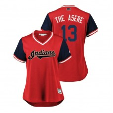 Women - Cleveland Indians Red #13 Leonys Martin The Asere Jersey