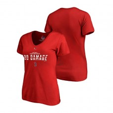 Women - Boston Red Sox Authentic Collection Red V-Neck T-Shirt