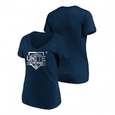 Women - New York Yankees Authentic Collection Navy V-Neck Majestic T-Shirt