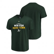 YOUTH Oakland Athletics Authentic Collection Green Majestic T-Shirt