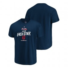 YOUTH Atlanta Braves Authentic Collection Navy Majestic T-Shirt