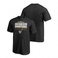 YOUTH Milwaukee Brewers Runner Black 2018 NL Central Division Champions Fanatics Branded T-Shirt