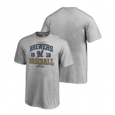 YOUTH Milwaukee Brewers Bases Heather Gray Fanatics Branded T-Shirt