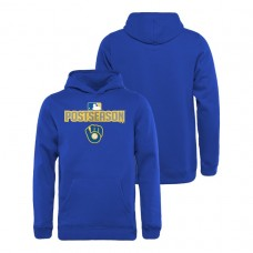 YOUTH Milwaukee Brewers Deck Royal Fanatics Branded Hoodie