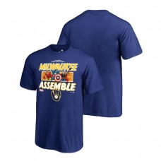 YOUTH Milwaukee Brewers Marvel Avengers Assemble Royal Fanatics Branded T-Shirt