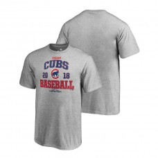 YOUTH Chicago Cubs Bases Heather Gray Fanatics Branded T-Shirt