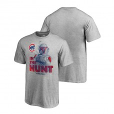 YOUTH Chicago Cubs Star Wars In The Hunt Heather Gray Fanatics Branded T-Shirt