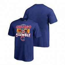 YOUTH Chicago Cubs Marvel Avengers Assemble Royal Fanatics Branded T-Shirt