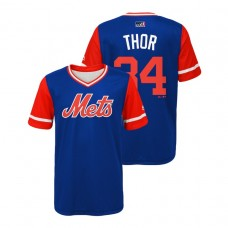 YOUTH New York Mets Royal #34 Noah Syndergaard Thor Jersey