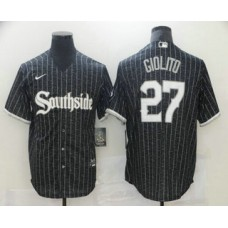 Chicago White Sox #27 Lucas Giolito Black 2021 City Connect Stitched Cool Base Jersey