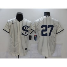 Chicago White Sox #27 Lucas Giolito 2021 Cream Navy Field of Dreams Flex Base Stitched Jersey