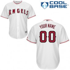 Custom Los Angeles Angels of Anaheim Authentic White Home Cool Base Jersey