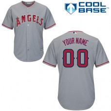 Custom Los Angeles Angels of Anaheim Authentic Grey Road Cool Base Jersey