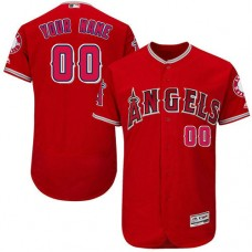Custom Los Angeles Angels of Anaheim Red Alternate Flexbase Authentic Collection Jersey