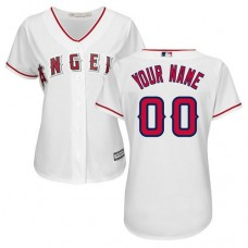 Women's Custom Los Angeles Angels of Anaheim Authentic White Home Cool Base Jersey