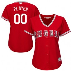 Women's Custom Los Angeles Angels of Anaheim Replica Red Alternate Cool Base Jersey
