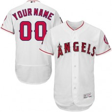 Custom Los Angeles Angels of Anaheim White Flexbase Authentic Collection Jersey