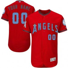 Custom Los Angeles Angels of Anaheim Authentic Red 2016 Father's Day Fashion Flex Base Jersey