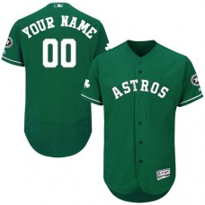 Custom Houston Astros Green Celtic Flexbase Authentic Collection Jersey
