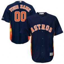 Youth Custom Houston Astros Authentic Navy Blue Alternate Cool Base Jersey