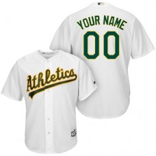 Youth Custom Oakland Athletics Replica White Home Cool Base Jersey