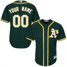 Youth Custom Oakland Athletics Replica Green Alternate 1 Cool Base Jersey