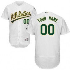 Custom Oakland Athletics White Flexbase Authentic Collection Jersey