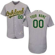 Custom Oakland Athletics Grey Flexbase Authentic Collection Jersey
