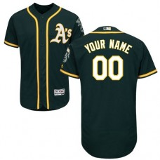 Custom Oakland Athletics Green Flexbase Authentic Collection Jersey