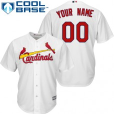 Custom St. Louis Cardinals Replica White Home Cool Base Jersey