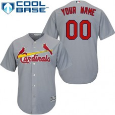Custom St. Louis Cardinals Authentic Grey Road Cool Base Jersey