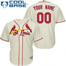 Custom St. Louis Cardinals Authentic Cream Alternate Cool Base Jersey