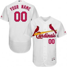 Custom St. Louis Cardinals White Flexbase Authentic Collection Jersey