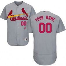 Custom St. Louis Cardinals Grey Flexbase Authentic Collection Jersey