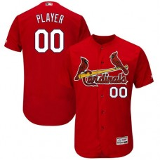 Custom St. Louis Cardinals Red Flexbase Authentic Collection Jersey