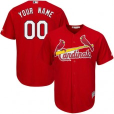 Custom St. Louis Cardinals Replica Red Alternate Cool Base Jersey
