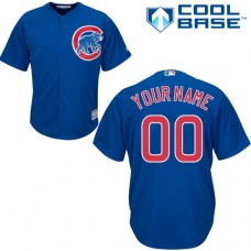 Youth Custom Chicago Cubs Authentic Royal Blue Alternate Cool Base Jersey