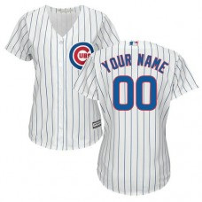 Women's Custom Chicago Cubs Authentic White Home Cool Base Jersey