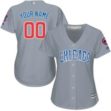 Women's Custom Chicago Cubs Replica Grey Road Cool Base Jersey