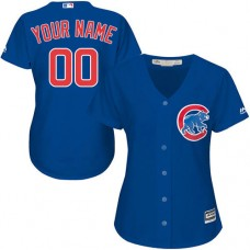 Women's Custom Chicago Cubs Authentic Royal Blue Alternate Cool Base Jersey