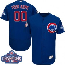 Custom Chicago Cubs Royal Blue 2016 World Series Champions Flexbase Authentic Collection Jersey
