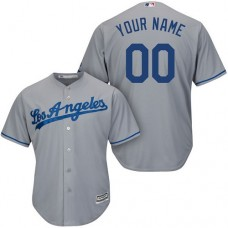 Custom Los Angeles Dodgers Replica Grey Road Cool Base Jersey