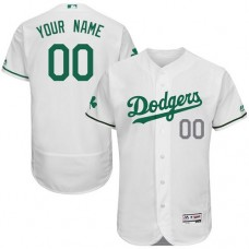 Custom Los Angeles Dodgers White Celtic Flexbase Authentic Collection Jersey