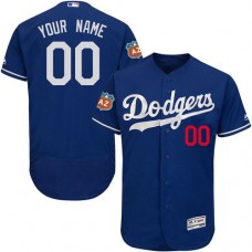 Custom Los Angeles Dodgers Authentic Royal Blue Alternate Cool Base Jersey