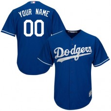 Custom Los Angeles Dodgers Replica Royal Blue Alternate Cool Base Jersey