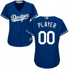 Women's Custom Los Angeles Dodgers Authentic Royal Blue Alternate Cool Base Jersey