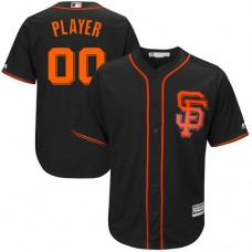 Youth Custom San Francisco Giants Authentic Black Alternate Cool Base Jersey