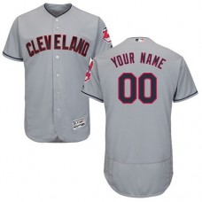 Custom Cleveland Indians Grey Flexbase Authentic Collection Jersey